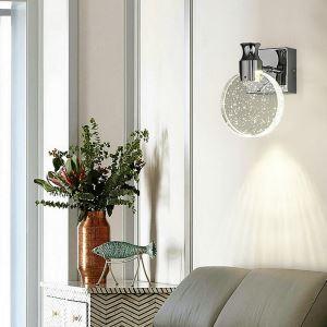 LED壁掛け照明 ウォールランプ ブラケットライト 玄関照明 間接照明 気泡付 円形 LED対応 QM6003