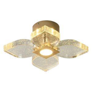 LEDシーリングライト 玄関照明 ダイニング照明 廊下 寝室 気泡付 花型 北欧風 17/24/37灯 LED対応 QM60081