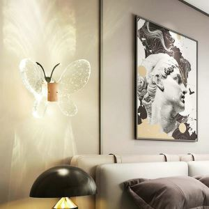 LED壁掛け照明 ウォールランプ ブラケットライト 玄関照明 間接照明 気泡付 蝶型 LED対応 QM6007