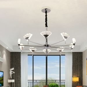 LEDシャンデリア ペンダントライト リビング照明 店舗照明 ダイニング 寝室 オシャレ 気泡付 10灯 LED対応 QM801910
