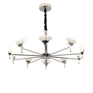 LEDシャンデリア リビング照明 ダイニング照明 店舗照明 扇形 気泡付 10灯 LED対応 QM801910