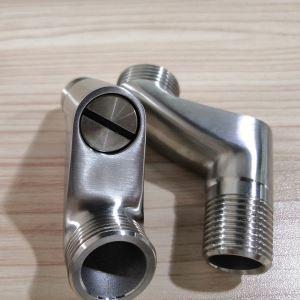 クランク 取付脚 配管用ソケット 延長 水栓部品 水流調整 止水付 ヘアライン 2個入り