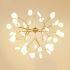 LEDペンダントライト 照明器具 リビング照明 寝室照明 店舗照明 北欧風 枝型 27/36/45/54/63灯 金色/黒色