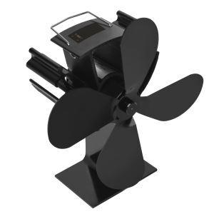 ストーブファン 暖炉ファン ヒートパワー デジタル表示器付 低騒音 静音 電源不要 空気循環 冬対策