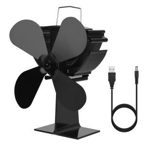 ストーブファン 暖炉ファン ヒートパワー 低騒音 静音 電源不要 空気循環 夏冬対策