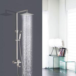 浴室シャワー水栓 シャワーシステム ヘッドシャワー+ハンドシャワー+回転蛇口 バス水栓 3色