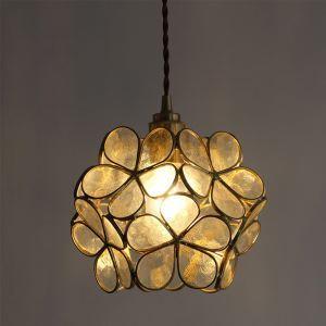 ペンダントライト リビング照明 ダイニング照明 寝室 玄関 廊下 店舗 ガラス 6畳8畳 花型 洋風 気泡付き 1灯 RN8899