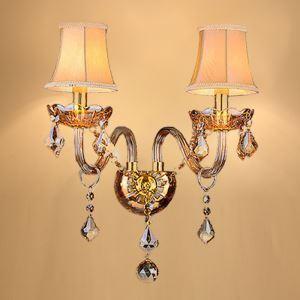 壁掛けライト クリスタル照明 ウォールランプ ブラケット 照明器具 玄関照明 2灯 HQ334