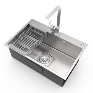 キッチンシンク 台所流し台 1槽 ステンレス製 手作り 厚さ S6845