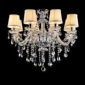 シャンデリア クリスタル 寝室照明 ダイニング照明 リビング照明 オシャレ 8灯 LED電球対応