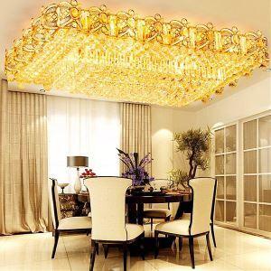 LEDシーリングライト クリスタル照明 天井照明 リビング照明 方形 オシャレ LED対応 LS89015S