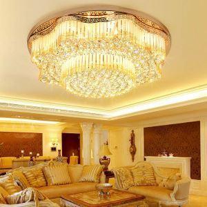 LEDシーリングライト クリスタル照明 天井照明 リビング照明 円形 オシャレ LED対応 LS89386R