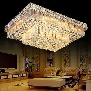 LEDシーリングライト クリスタル照明 天井照明 リビング照明 方形 オシャレ LED対応 LS89222S