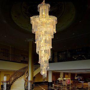 ペンダントライト 天井照明 吹き抜け照明 ホテル照明 クリスタル 豪華 オシャレ LS91034