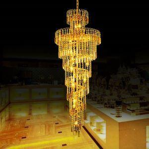ペンダントライト 天井照明 吹き抜け照明 ホテル照明 クリスタル 豪華 オシャレ LS91409