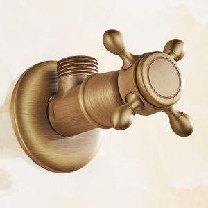 止水栓 アングル弁 真鍮 アンティーク調 ORB プラス色