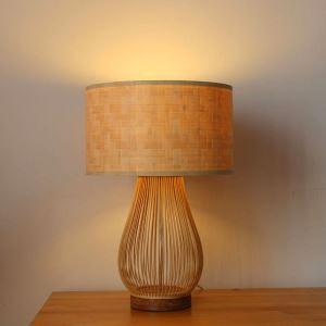 テーブルランプ スタンドライト 間接照明 卓上照明 デスクライト リビング 寝室 竹 手作り編み 和風 1灯 GYT0017