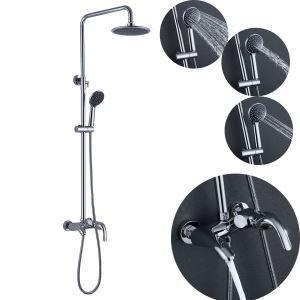 浴室シャワー混合栓 シャワーシステム ヘッドシャワー+ハンドシャワー+蛇口 バス水栓 クロム