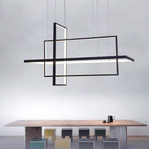 LEDペンダントライト 照明器具 リビング照明 ダイニング照明 天井照明 オシャレ LED対応 幾何型 2色