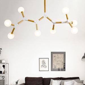 LEDペンダントライト 天井照明 リビング照明 ダイニング照明 魔豆型 LED対応 3/5/6/8灯