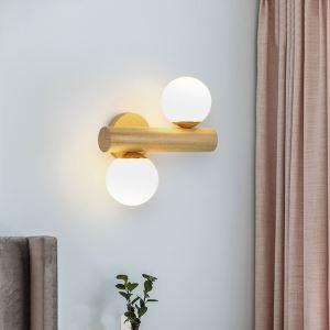 LED壁掛け照明 ウォールランプ 玄関照明 ブラケット 和風 魔豆型 2灯 LED対応