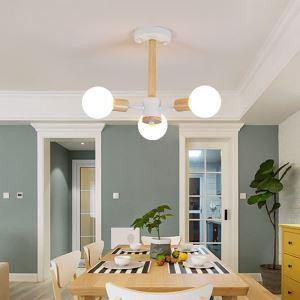 LEDシャンデリア 天井照明 リビング照明 寝室照明 魔豆型 LED対応 3/6/8/10灯
