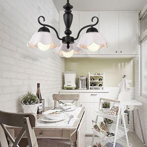 シャンデリア 天井照明 リビング照明 寝室照明 北欧風 花型 3/6/8灯