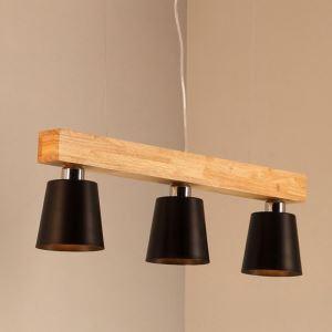 ペンダントライト 天井照明 リビング照明 ダイニング照明 和風 黒白 3灯