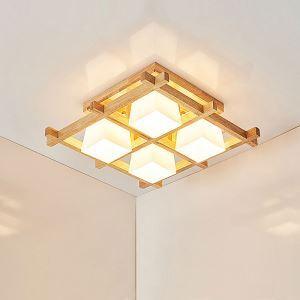 シーリングライト 天井照明 リビング照明 寝室照明 和風 格子型 4/6/9灯