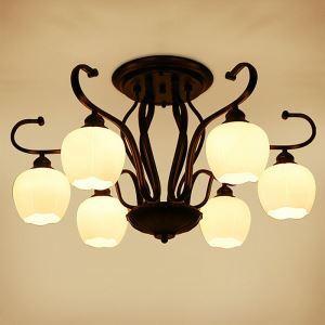 シーリングライト 天井照明 リビング照明 寝室照明 北欧風 蕾型 3/6/8灯