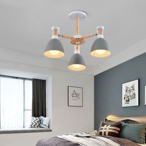 シャンデリア 天井照明 リビング照明 寝室照明 北欧風 マカロン色 3灯