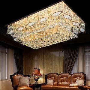 シーリングライト クリスタル照明 天井照明 リビング照明 方形 オシャレ LS89316S
