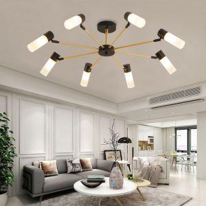 LEDシャンデリア リビング照明 ダイニング照明 黒金色 北欧風 6/8灯 LED対応