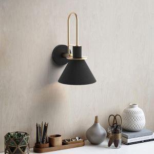 壁掛け照明 ウォールランプ ブラケット 枕元照明 玄関照明 照明器具 北欧風 角笛型 1灯 QMB038