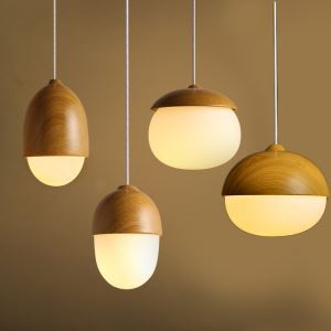 ペンダントライト リビング照明 店舗照明 玄関照明 寝室照明 ドングリ型/堅果型 北欧風 和風 1灯 PLMS890