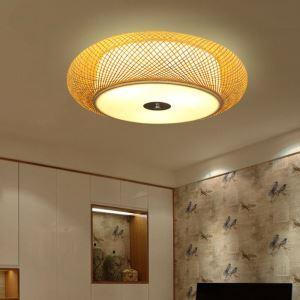 シーリングライト 照明器具 リビング照明 店舗照明 寝室照明 ダイニング 和室和風 竹 手作り編み X03