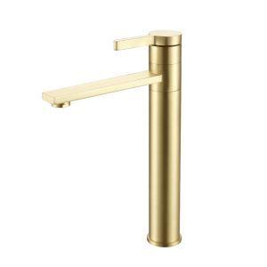 洗面蛇口 手洗器水栓 冷熱混合栓 水道蛇口 360°回転 H32cm