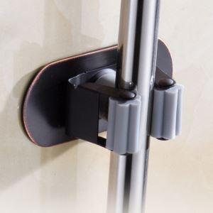 モップホルダー モップハンガー 壁掛けモップ収納 ステンレス鋼 穴開け不要 ORB