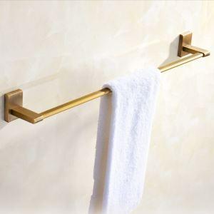 浴室タオルバー タオル掛け 壁掛けハンガー タオル収納 一重/二重 ブラス色