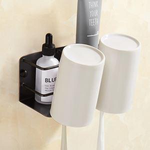 浴室棚 シェルフ 化粧棚 歯ブラシホルダー カップ付 浴室収納 穴開け不要 ORB