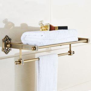 浴室タオルラック タオル掛け タオル収納 壁掛けハンガー 真鍮 アンティーク
