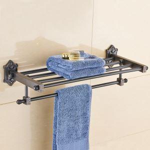 浴室タオルラック タオル掛け タオル収納 壁掛けハンガー 真鍮 ORB