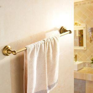 浴室タオルバー タオル掛け 壁掛けハンガー タオル収納 ブラス色