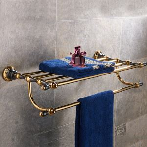 浴室タオルラック タオル掛け タオル収納 壁掛けハンガー 真鍮 2色
