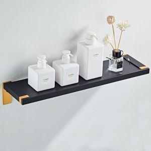 浴室棚 シェルフ 化粧棚 浴室収納 厚分 アルミニウム製 黒金色