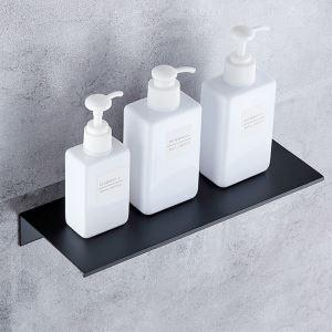 浴室棚 シェルフ 化粧棚 浴室収納 厚分 アルミニウム製 黒色