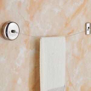 室内物干しワイヤー 洗濯物干し 隠し物干しロープ 壁掛け 巻き取り式 伸縮性