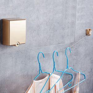 室内物干しワイヤー 洗濯物干し 隠し物干しロープ 壁付 巻き取り式 伸縮性