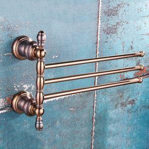 壁掛けタオルバー タオルハンガー タオル掛け タオル収納 回転 真鍮 2色