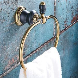 タオルリング 壁掛けハンガー タオル掛け タオル収納 真鍮 2色